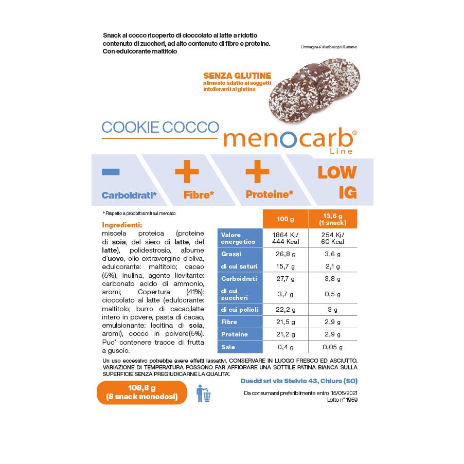 Cookie cocco menocarb