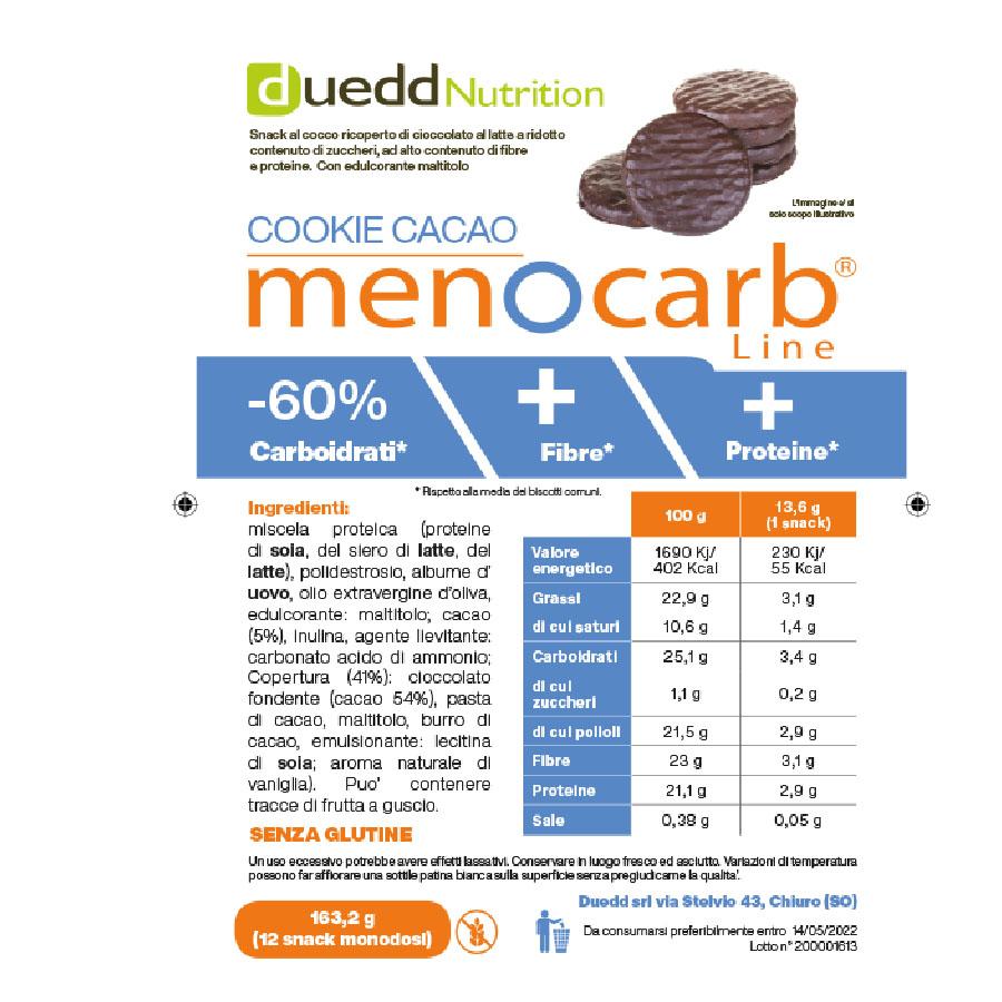 Cookie cacao menocarb